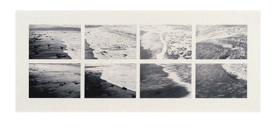 BEYOND EDGES OF MEMORY 1983 silver prints 27X65 inches