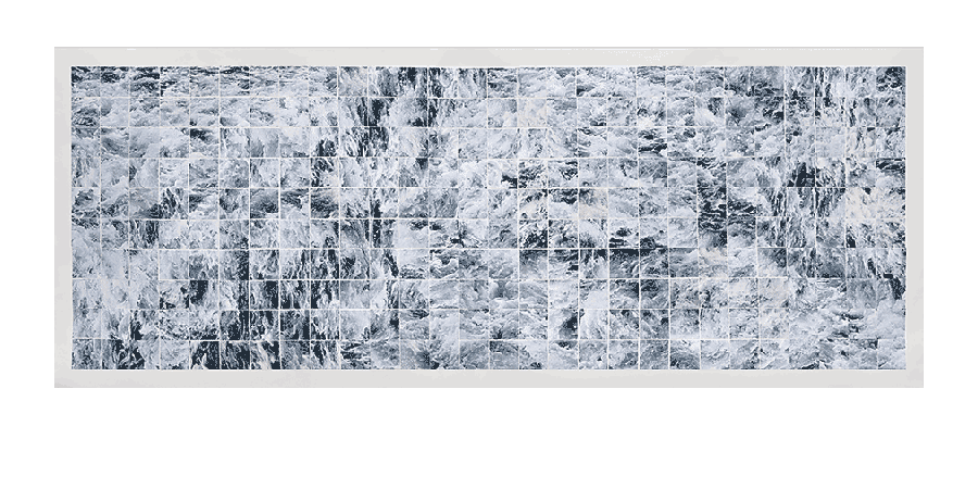 TURBULENCE #10 2014 digital photograph montage 27X65 inches